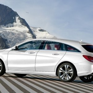 2014 mercedes CLA shooting brake rendered